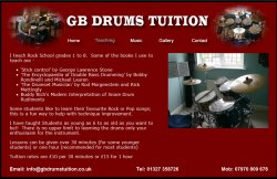 GB Drums Tuition - Towcester, Northampton