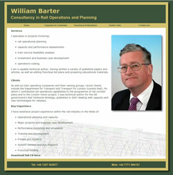 William Barter. Consultancy in Rail Operations and Planning
